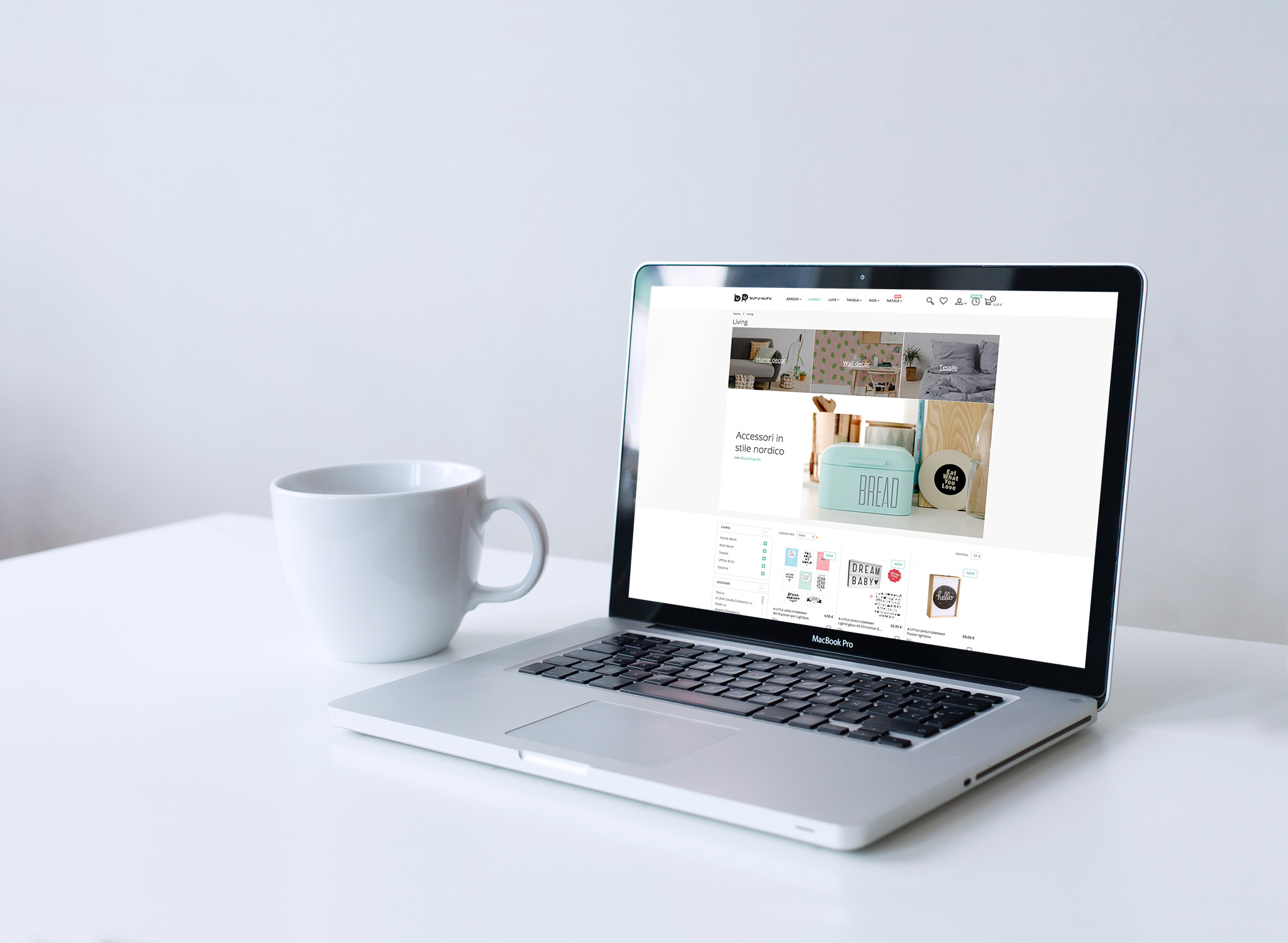 e-commerce therapy homepage