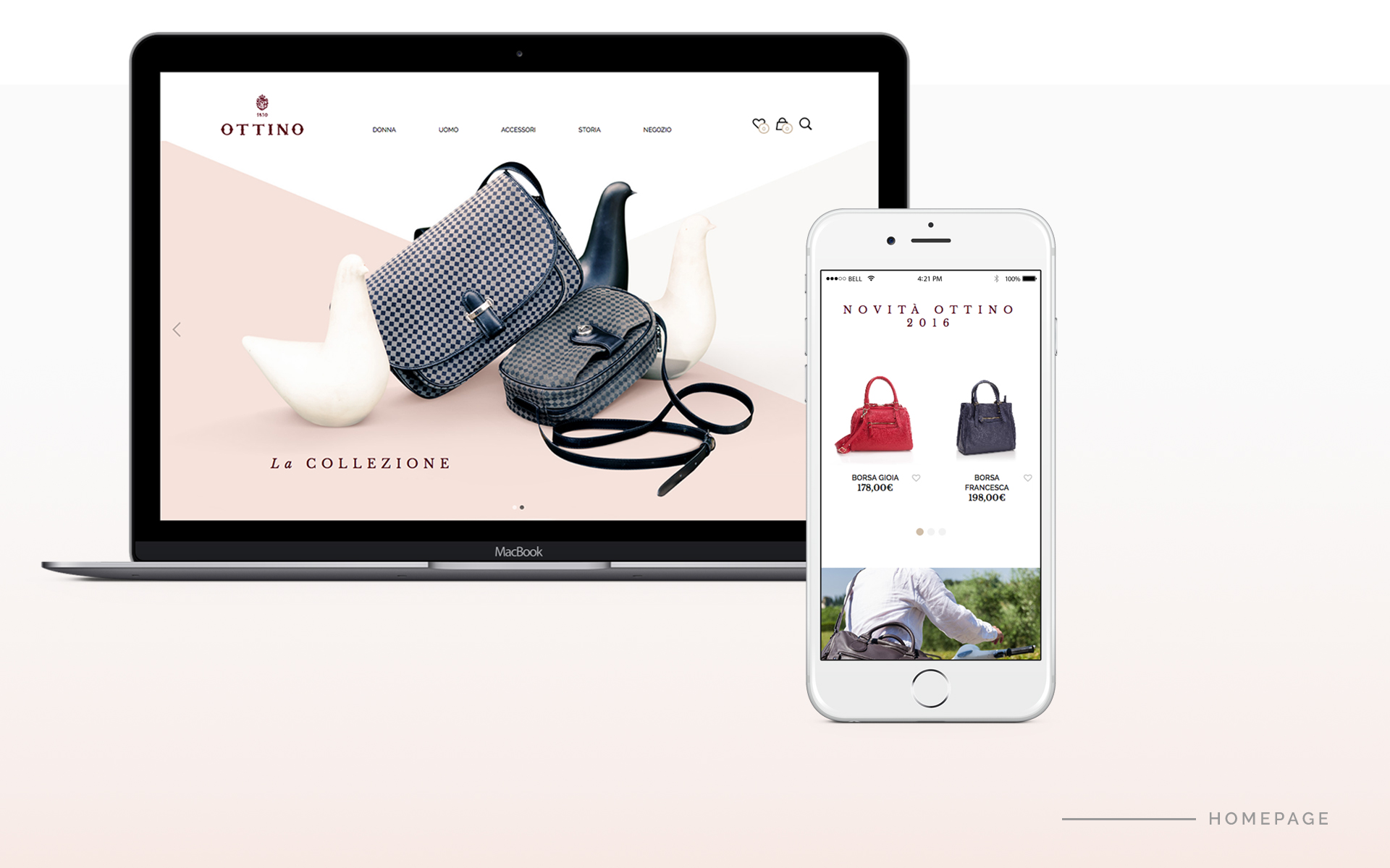ottino by e-commerce therapy homepage