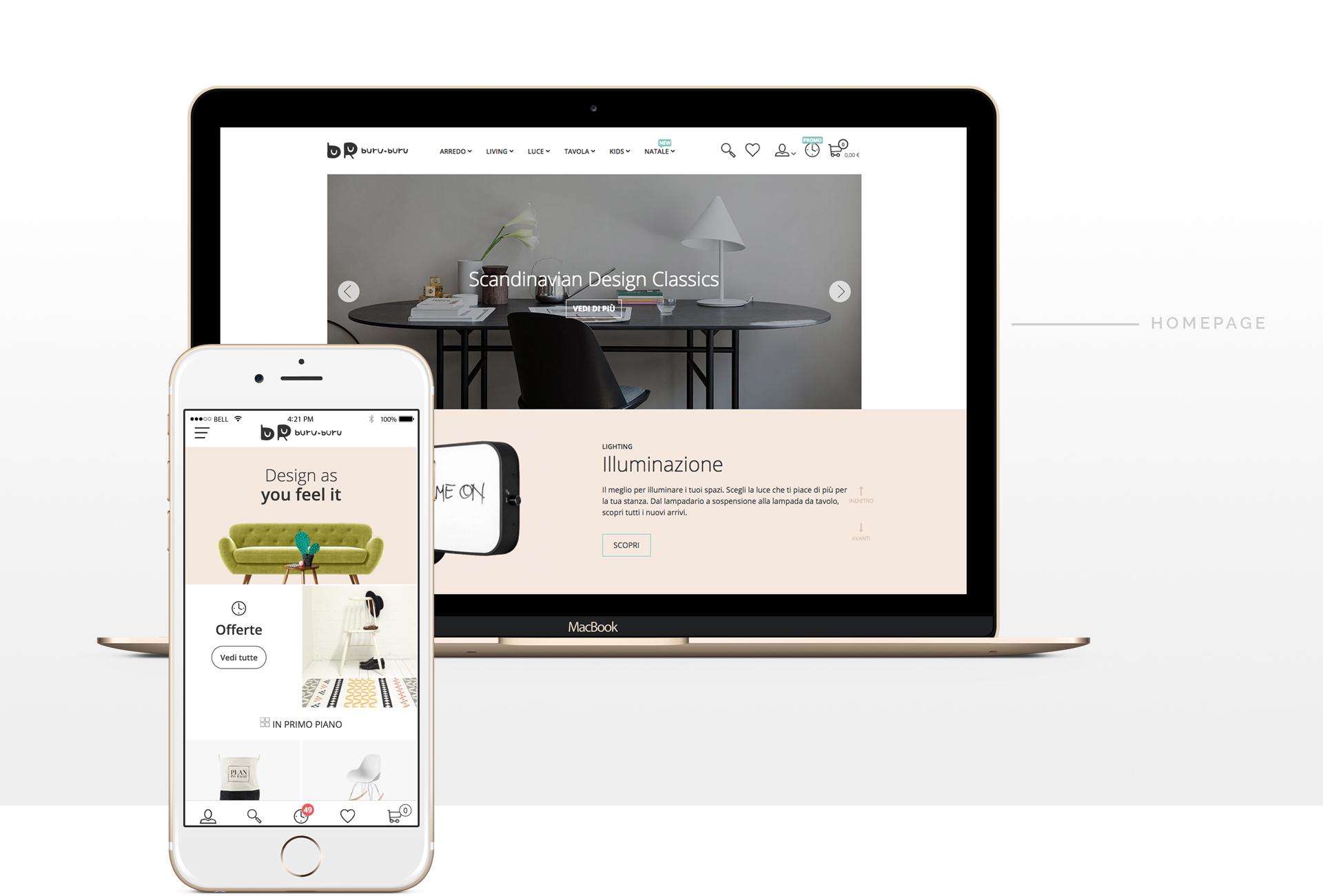 buru buru e-commerce web site