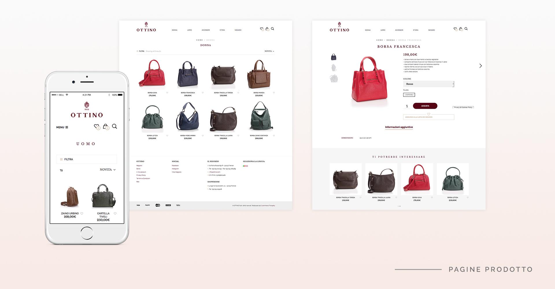 pagina prodotto ottino by e-commerce therapy
