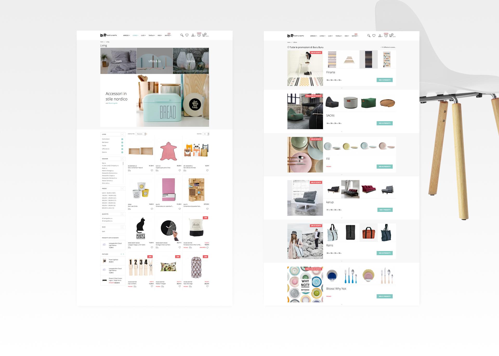 buru buru e-commerce category page