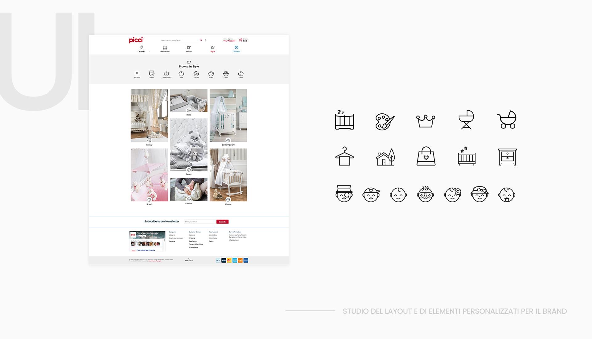 ui design picci by e-commerce therapy